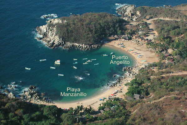 """ can take you to Puerto Angelito, Playa Manzanillo, or Carrizalillo"